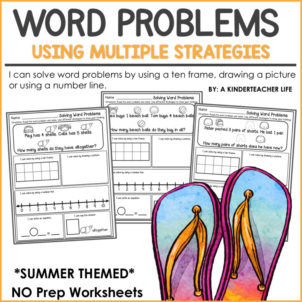 FREEBIE - Solving word problems using multiple strateiges worksheets