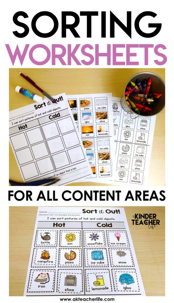Sorting Worksheets For All Content Areas Freebie Included A. Sorting Worksheets For All Content Areas Freebie Included A Kinderteacher Life. Worksheet. Math Worksheet What Is Cold And Es In Cans At Clickcart.co