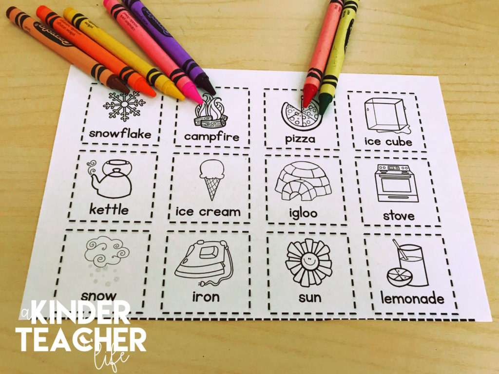 Sort Worksheets - Hands-on sort worksheets for primary students