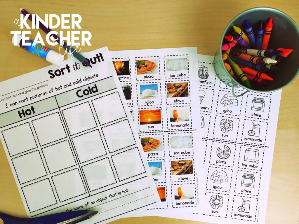 Sort Worksheets - No Prep - Perfect for centers and assessements
