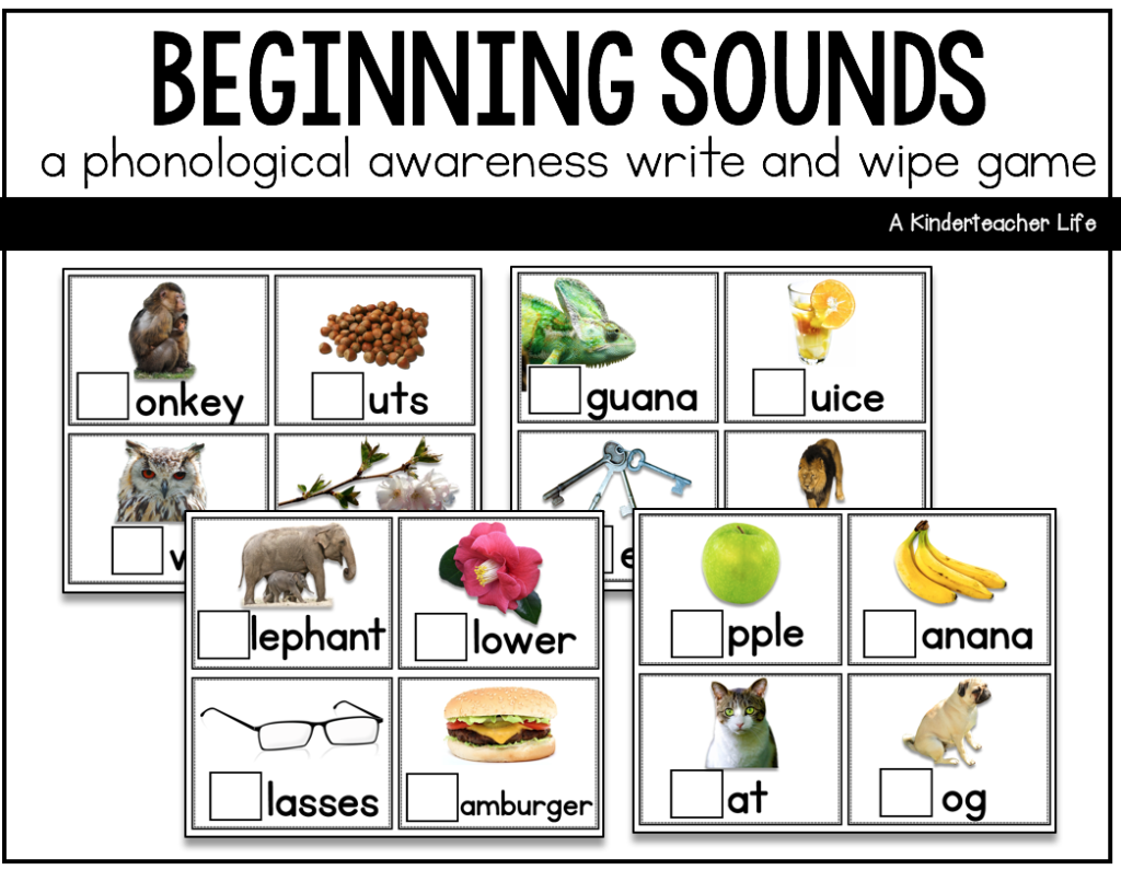 Beginning Sounds Game FREEBIE