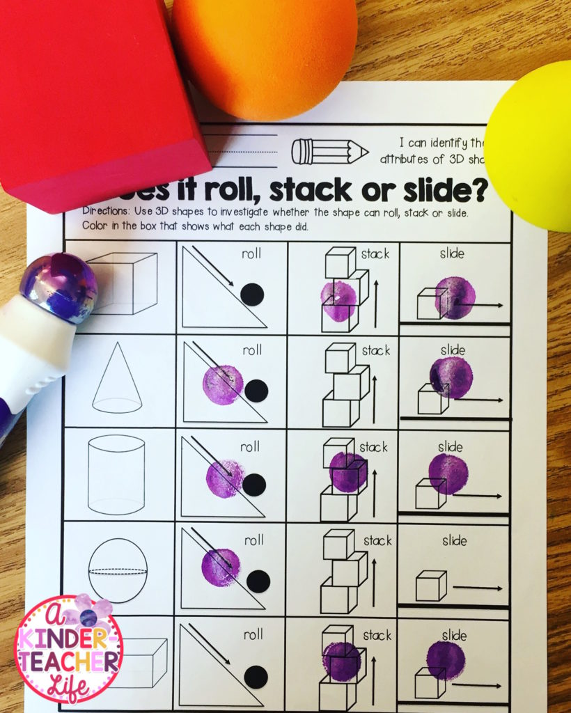 Does it roll, stack or slide worksheets