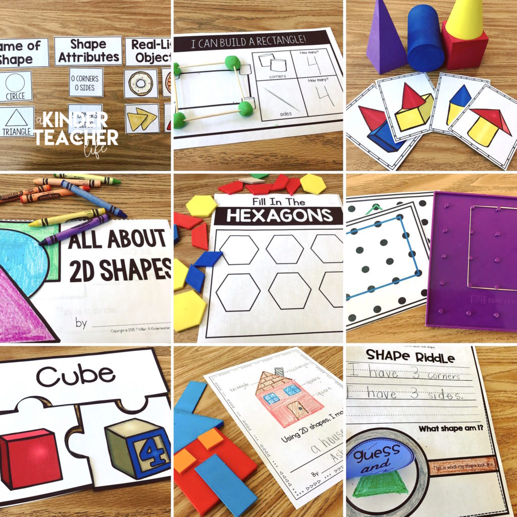Shape activities for hands-on learning and interactive game playing