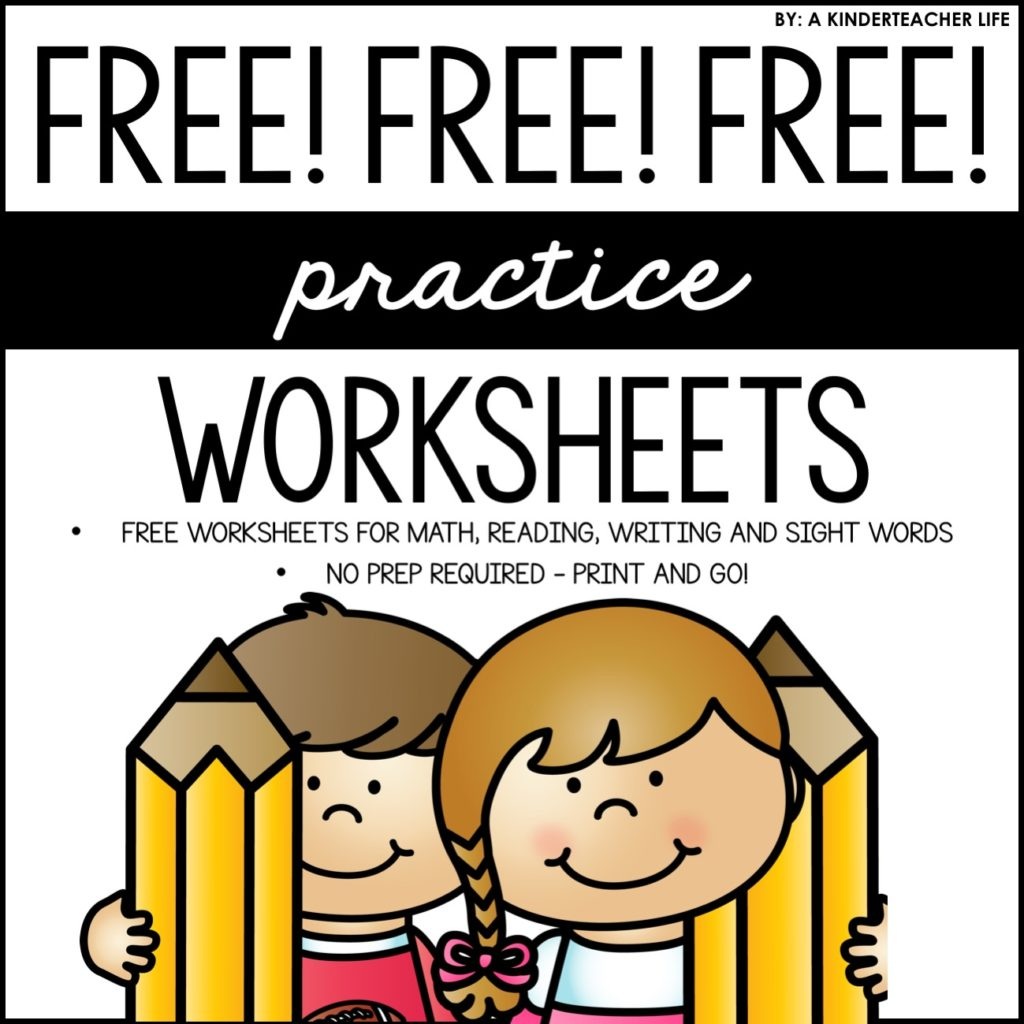 Free No Prep Practice Worksheets