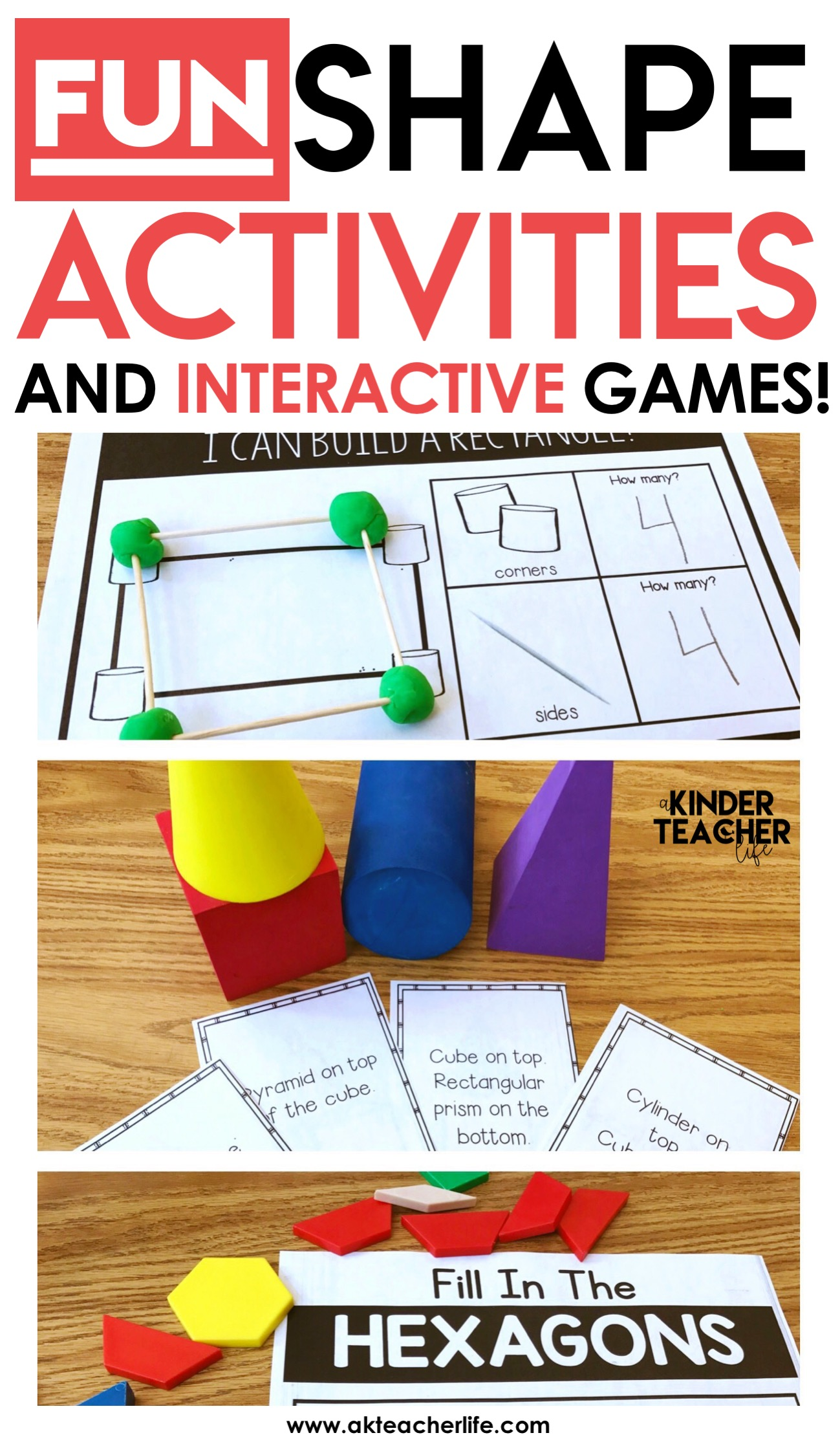 12 hands on shape activities a kinderteacher life. Black Bedroom Furniture Sets. Home Design Ideas