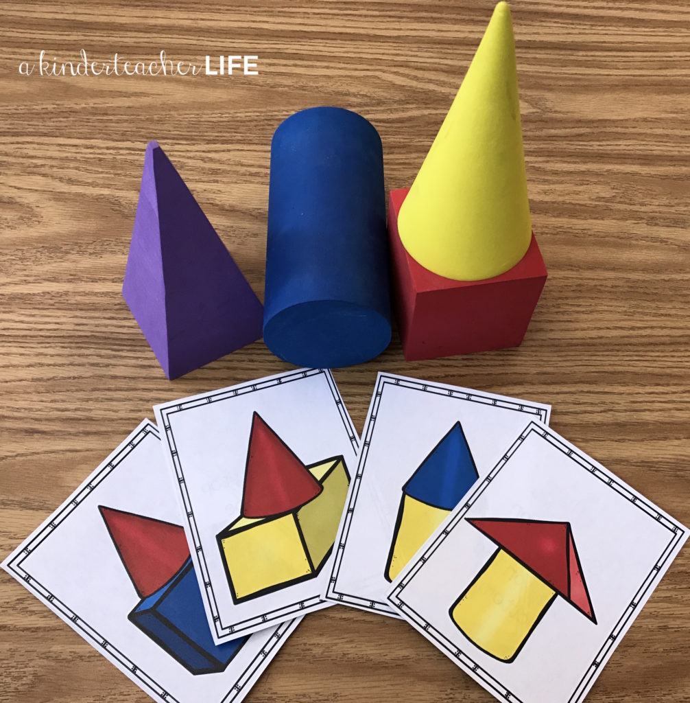 12 Hands-on shape activities. Activities include sorting shapes by attributes, building shapes with play dough, building shapes using positional words, writing a shape book and riddles and puzzles