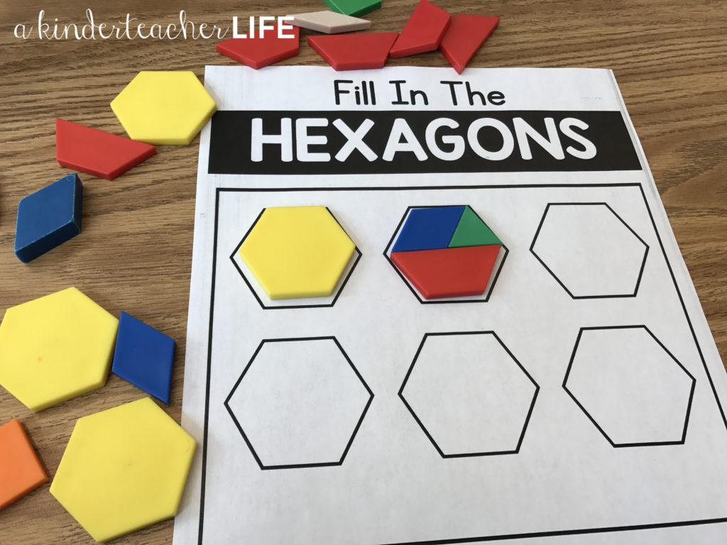 Fill in the hexagon