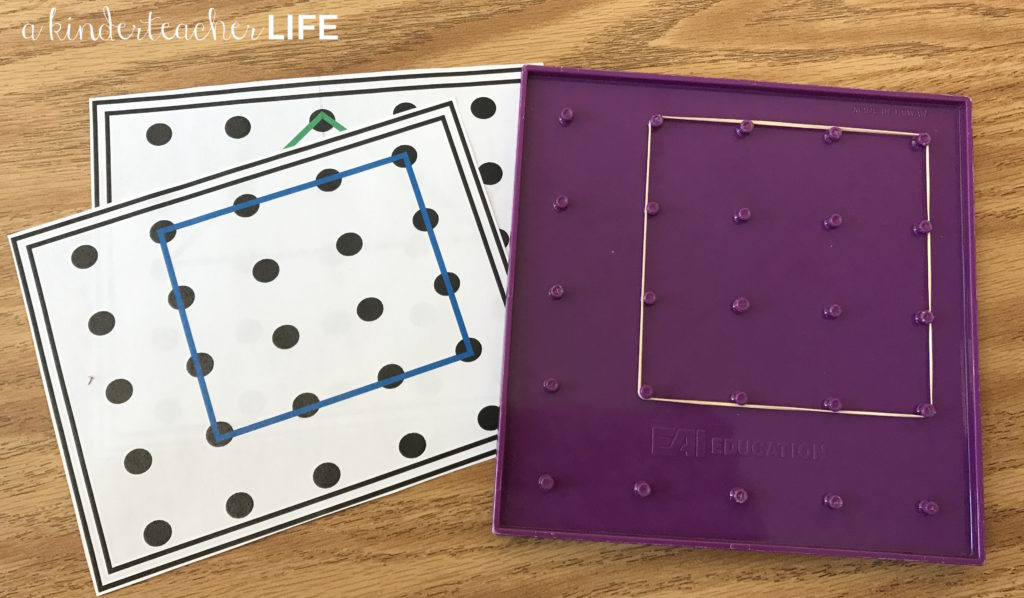 2D shapes geoboards