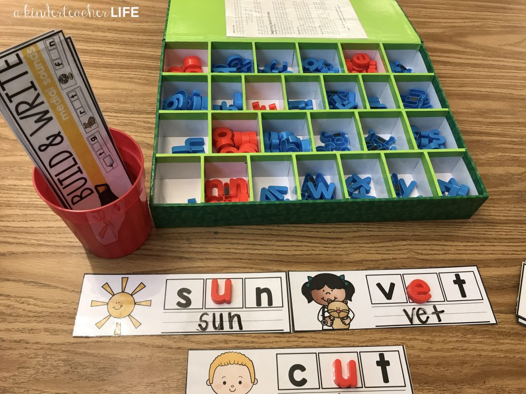 Phonics Cards - Use magnetic letters or a dry erase marker to finish the words