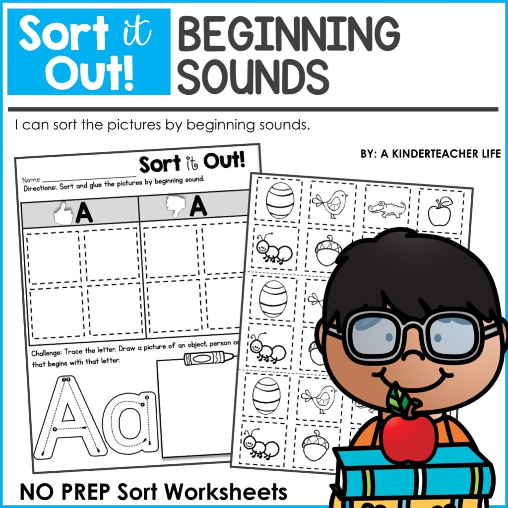 Beginning sounds worksheets for kindergarten pdf