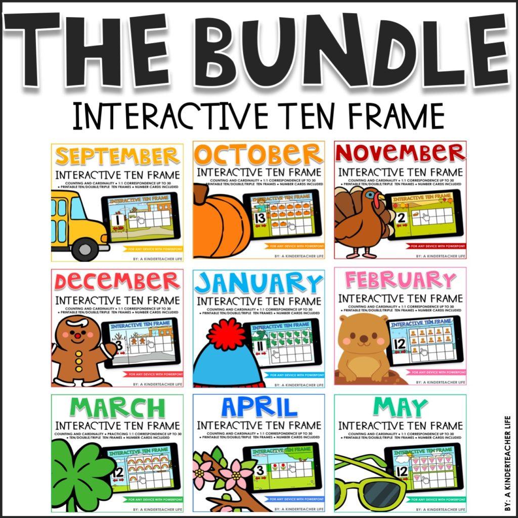 Interactive Ten Frame The Bundle