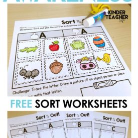 FREE Phonemic Awareness Sorting Worksheets