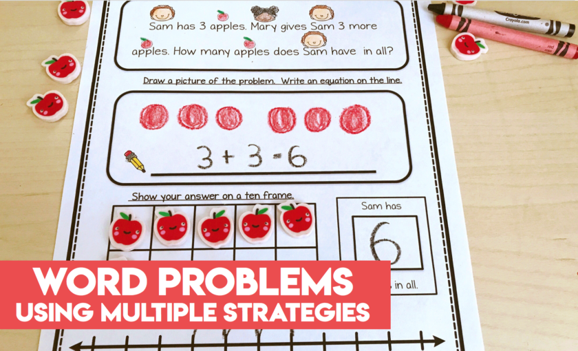 Word Problems Using Multiple Strategies worksheets