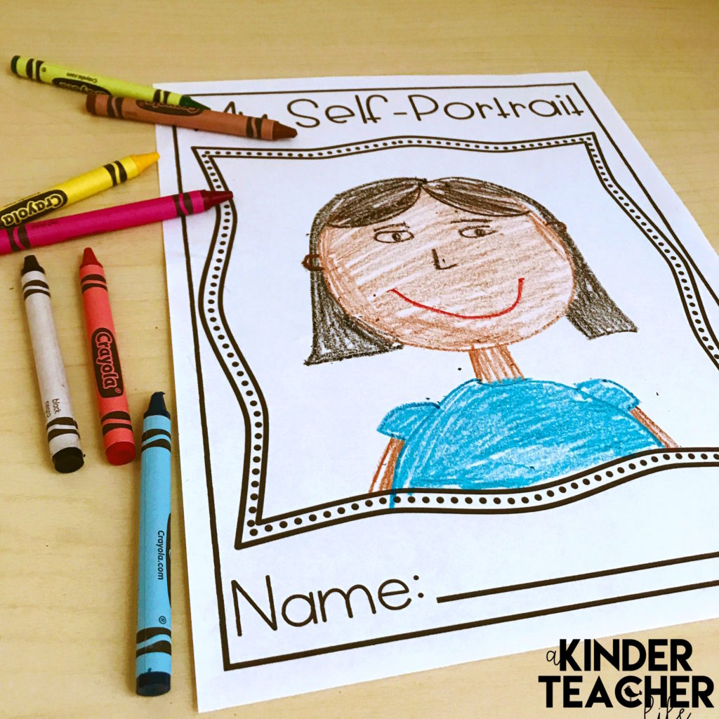 Free Self-Portrait Worksheet for the first day of school