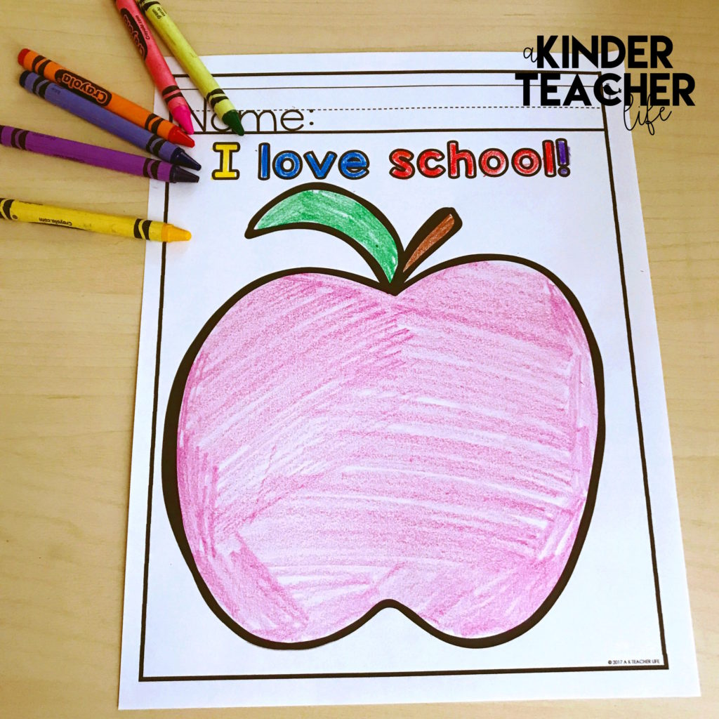 Free Coloring Worksheets for the First Day of School