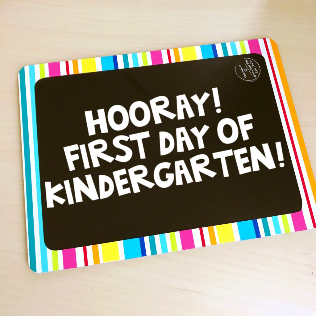Take lots of photos on the first day of school!