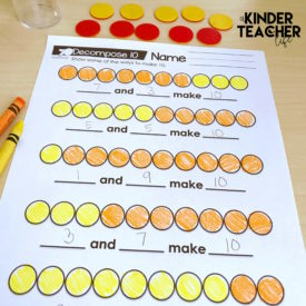 Decomposing Numbers Math Center Games