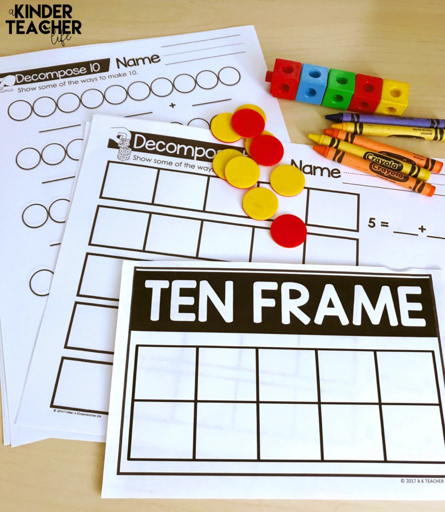 How to decompose numbers using hands-on activities