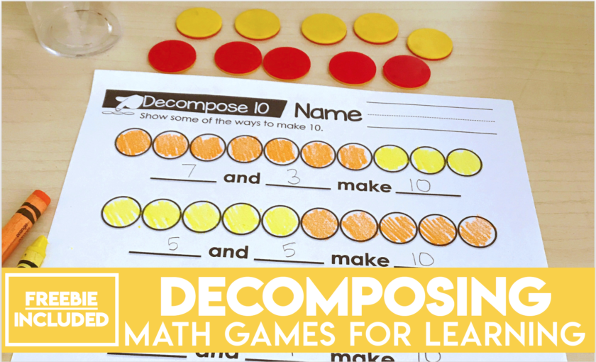 Decomposing Numbers Math Games