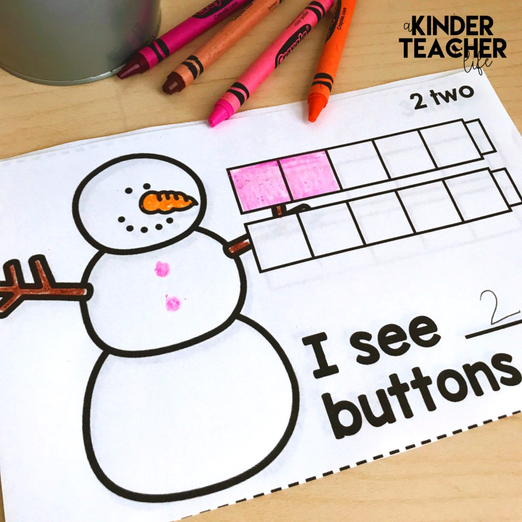 Free printable math snowman counting book