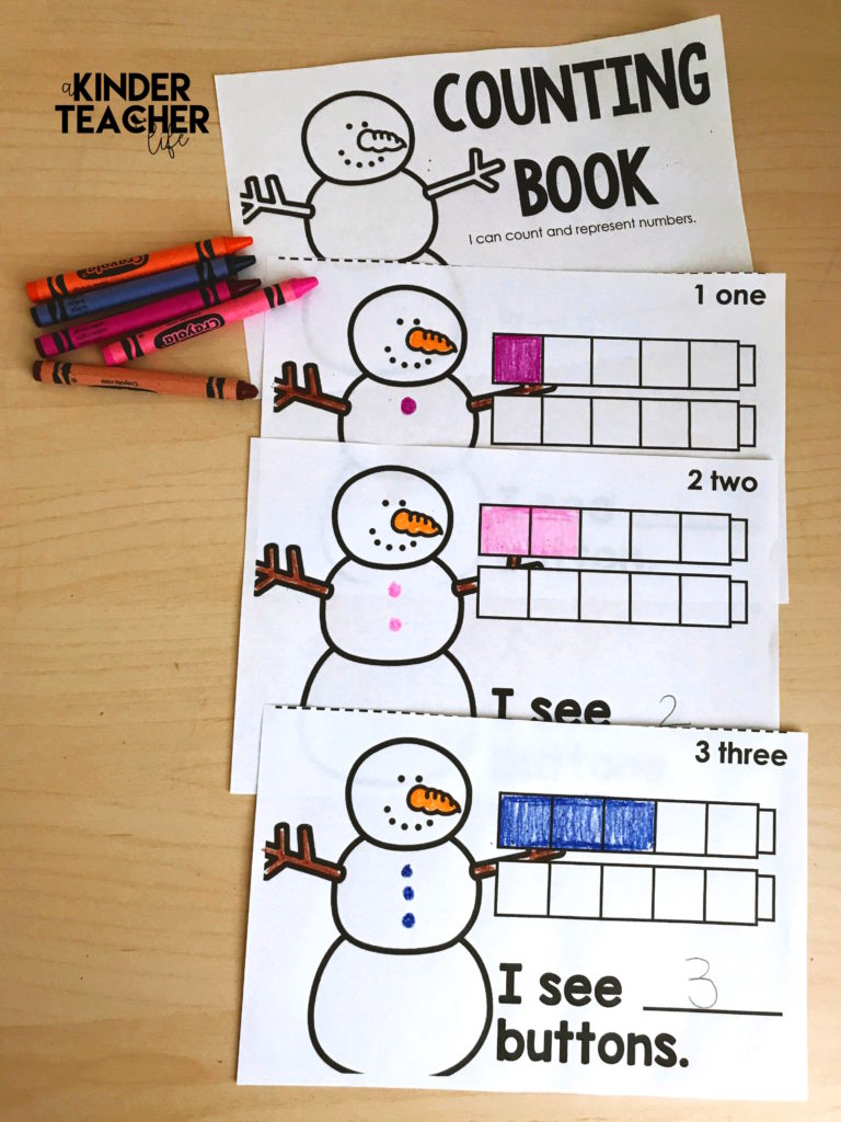 Free snowman themed counting book