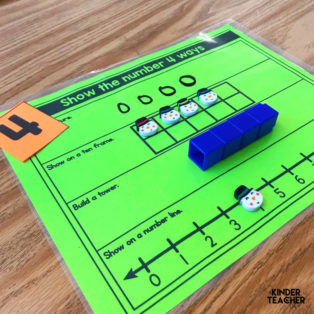 Show the Number 4 Ways - Number Sense Math Game - A Kinderteacher Life