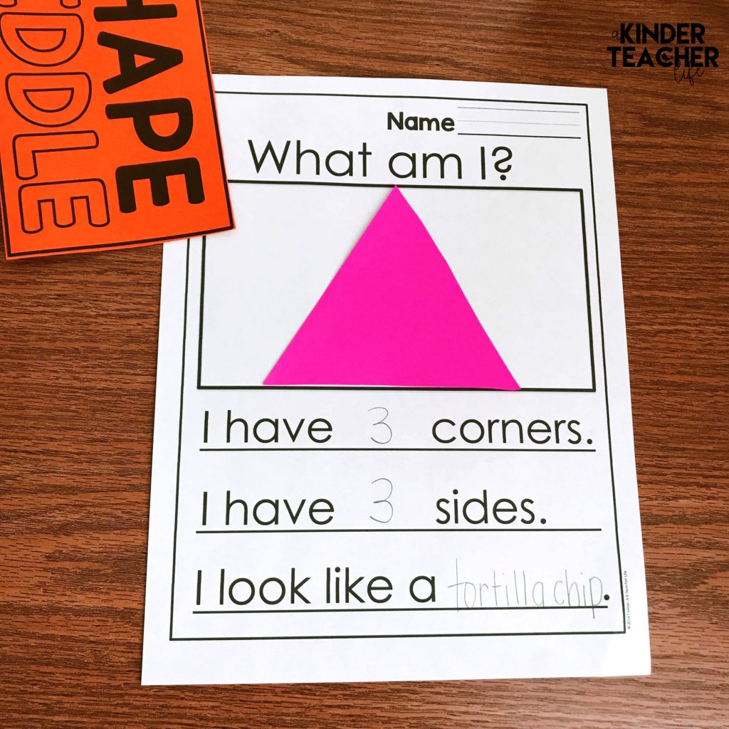 This blog post is about shape riddles! Use shape riddles to engage your students in identifying the attributes of 2D and 3D shapes. They can even write their own! Free worksheets included.