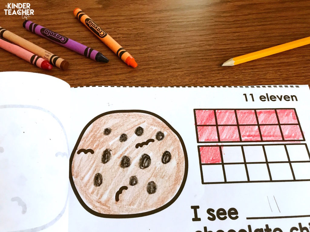 Free printable math counting book for numbers 11 – 20. Great practice for teaching students to identify teen numbers!