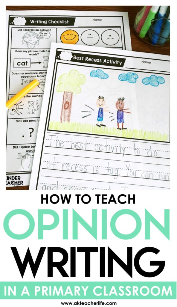 Read this blog post to get new ideas on how to teach kindergartners to write their opinions.