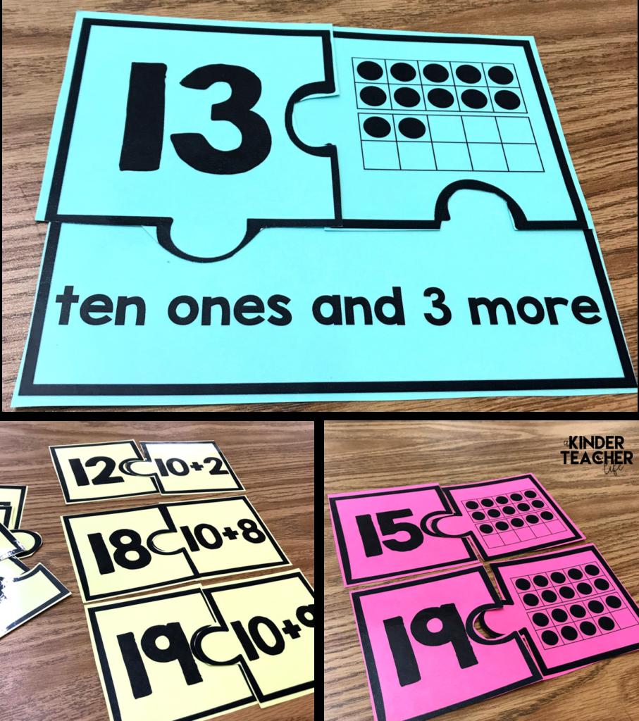 Decomposing Teen Numbers - A Kinderteacher Life