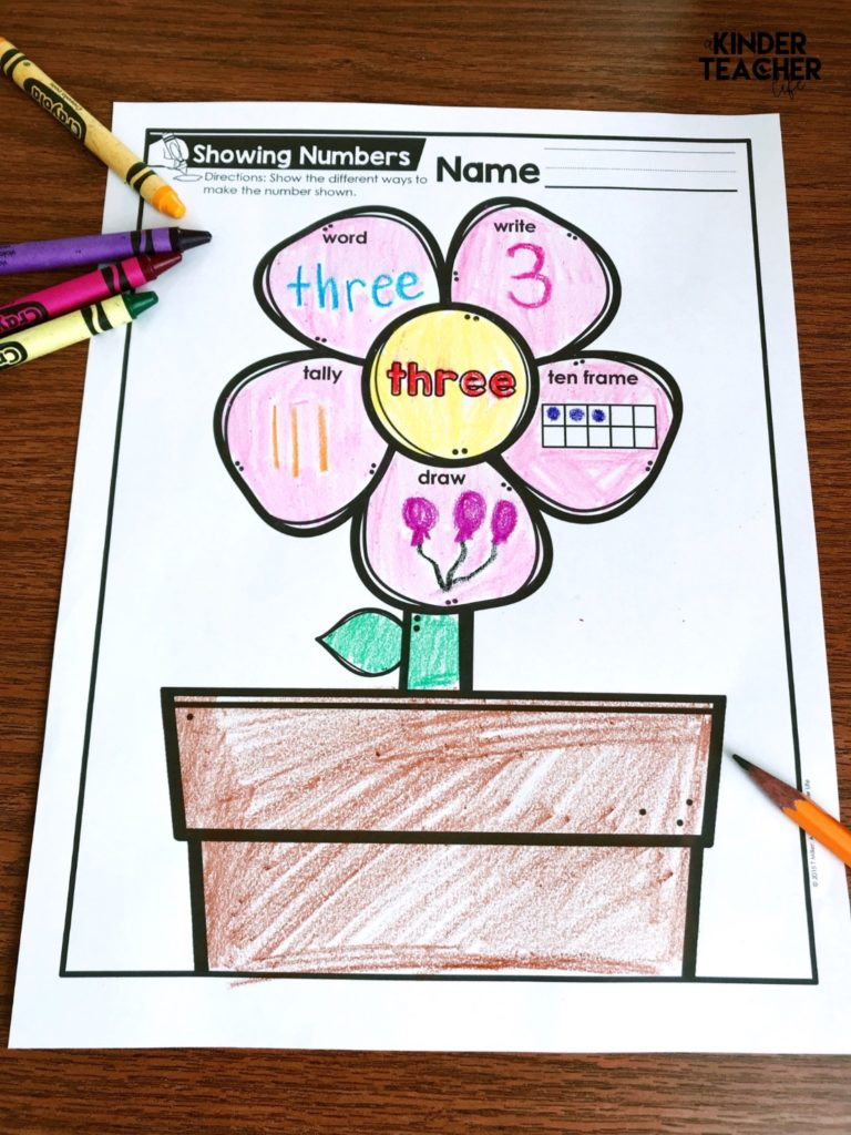 Representing Numbers Different Ways Printables (Freebie) - A ...