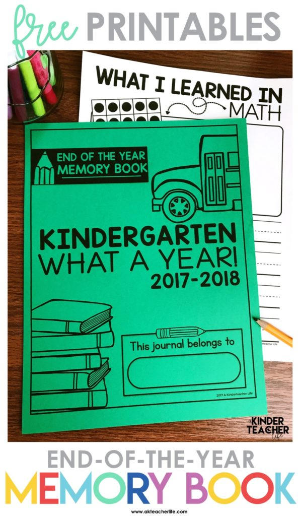 End-of-the-Year Memory Book {Free Printables!} - A Kinderteacher Life