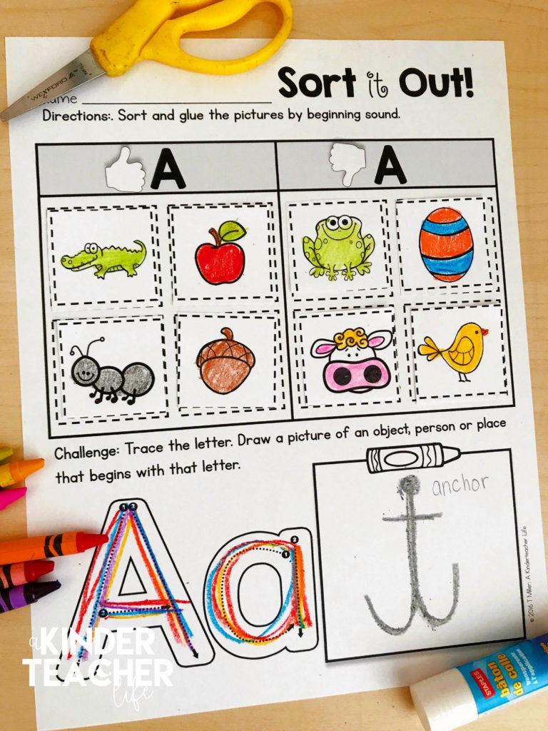 FREE Phonemic Awareness Sorting Worksheets - A Kinderteacher Life