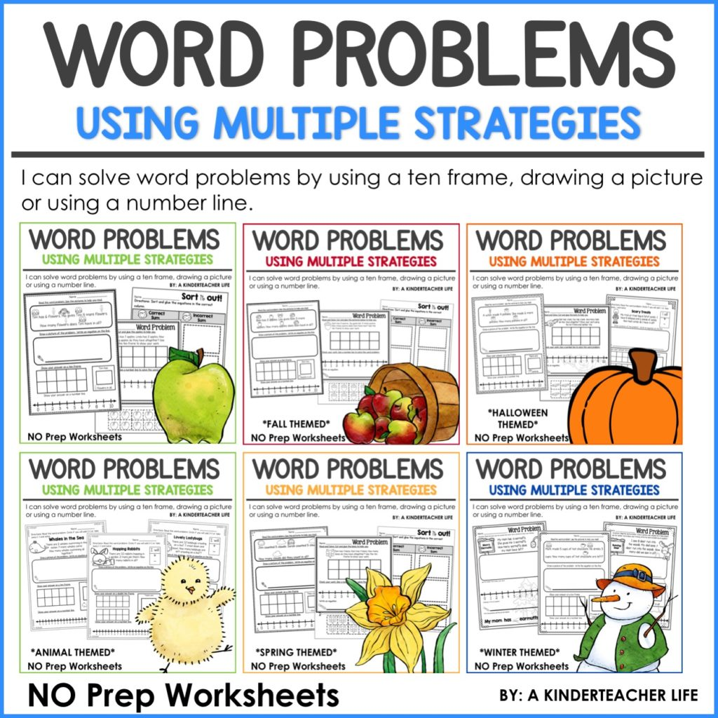 let's solve word problems using multiple strategies - a