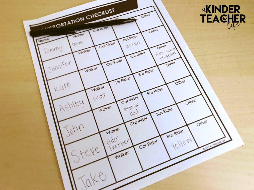 10 Must-Dos for the First Day of School - A Kinderteacher Life