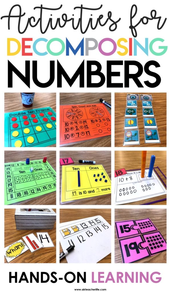 Decomposing Teen Numbers A Kinderteacher Life