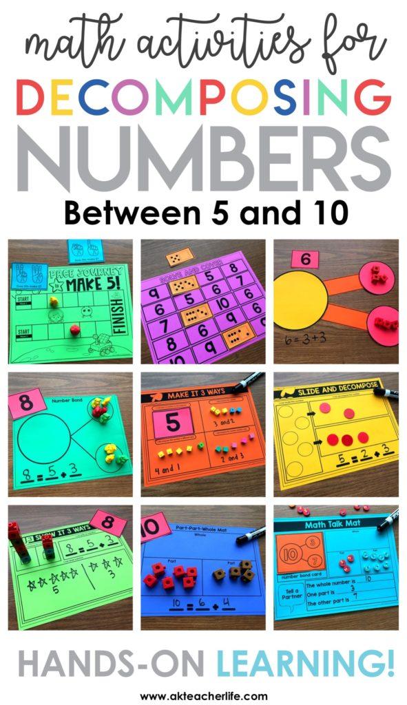 Decomposing Math Center Activities A Kinderteacher Life